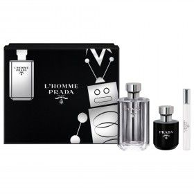 Prada L'Homme Eau de Toilette 100ml + Shower Gel 100ml + Mini Eau de Toilette 10ml