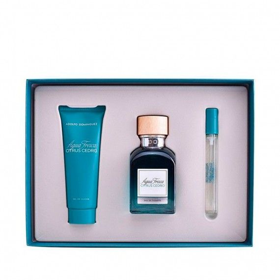 Adolfo Dominguez Agua Fresca Citrus Cedro Eau de Toilette 120ml + Body Lotion 75ml + Mini Eau de Toi