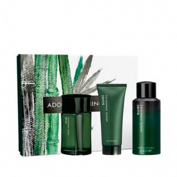 Adolfo Dominguez Agua de Bambú Eau de Toilette 120ml + After Shave 75ml + Deo Spray 150ml