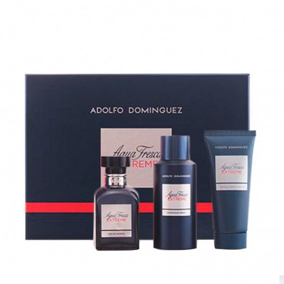 Adolfo Dominguez Agua Fresca Extreme Eau de Toilette 120ml + After Shave 100ml + Deo Spray 150ml