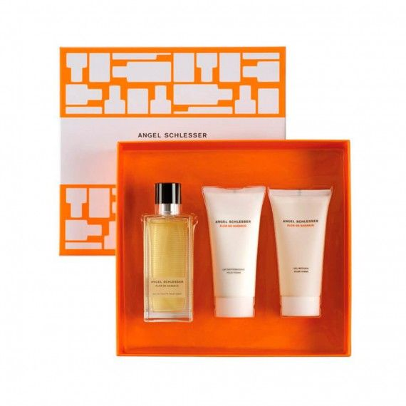 Angel Schlesser Flor De Naranjo Eau de Toilette 100ml + Body Lotion 100ml + Shower Gel 100ml