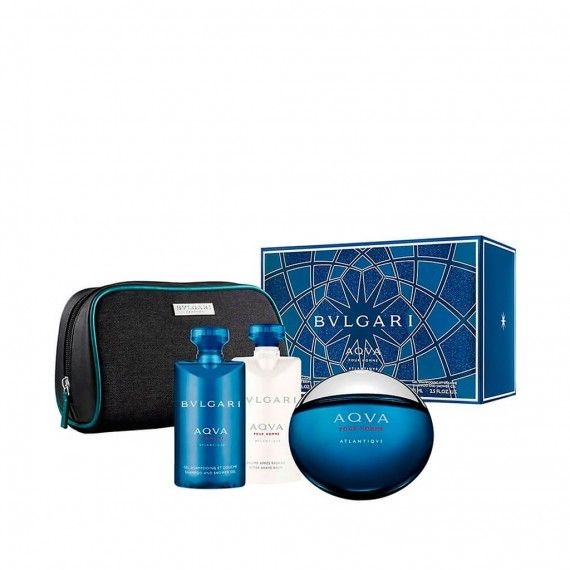 Bvlgari Aqva Atlantiqve Pour Homme  Eau de Toilette 100ml + Shower Gel 75ml + Body Lotion 75ml + Néc