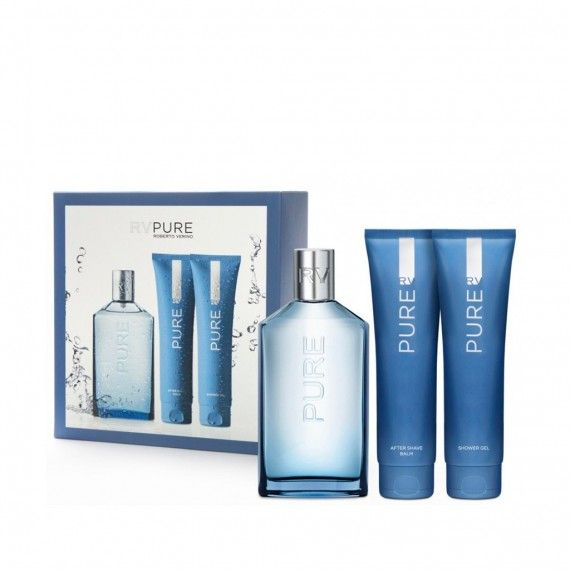 Roberto Verino RV Pure Eau de Toilette 150ml + After Shave Bálsamo 150ml + Shower Gel 150ml