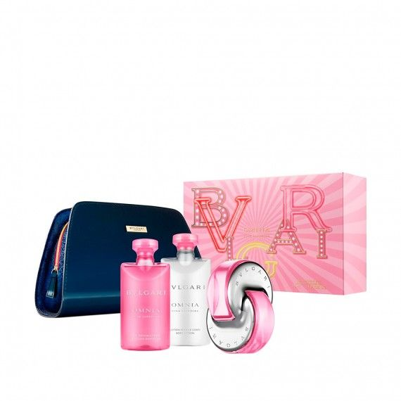 Bvlgari Omnia Pink Sapphire Eau de Toilette 65ml + Body Lotion 75ml + Shower Gel 75ml + Nécessaire