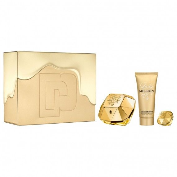 Paco Rabanne Lady Million Eau de Parfum 80ml + Body Lotion 100ml + Mini Eau de Parfum 5ml