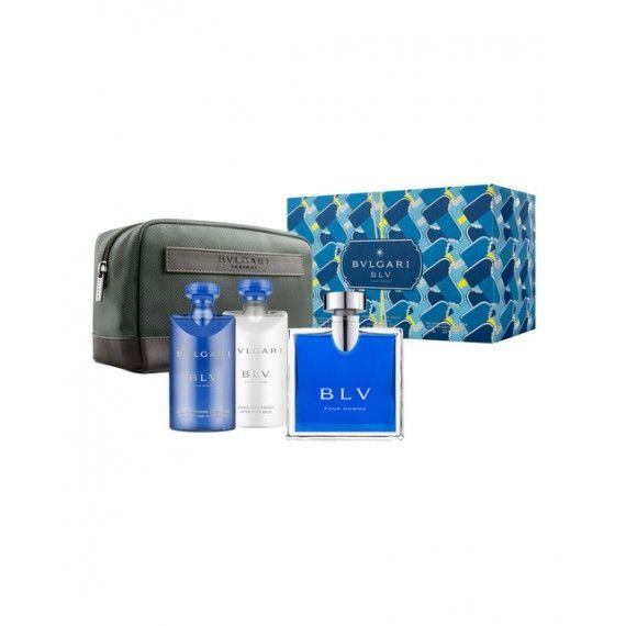 Bvlgari Blu Homme Eau de Toilette 100ml + Shower Gel 75ml + After-Shave 75ml + Nécessaire