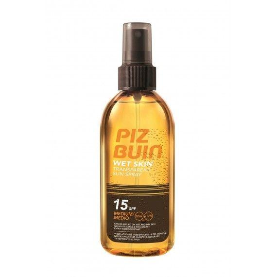 Piz Buin Wet Skin Transparent Sun Spray SPF15 - Medium Protection