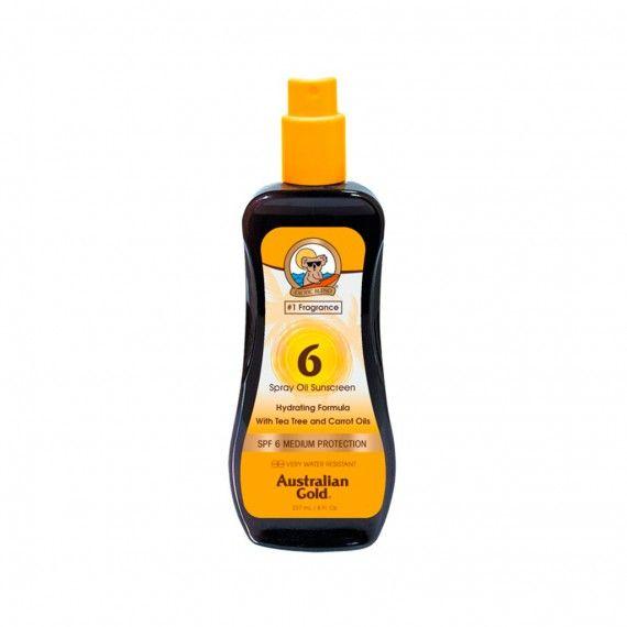 Óleo de Cenoura Bronzeador Australian Gold em Spray SPF6