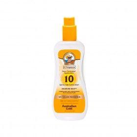 Protetor Solar Australian Gold em Spray Gel SPF10