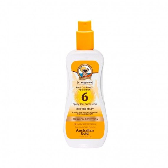 Protetor Solar Australian Gold em Spray Gel SPF6