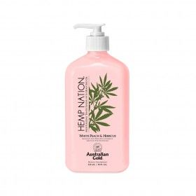 Body Lotion Hidratante Australian Gold Hemp Nation White Peach & Hibiscus