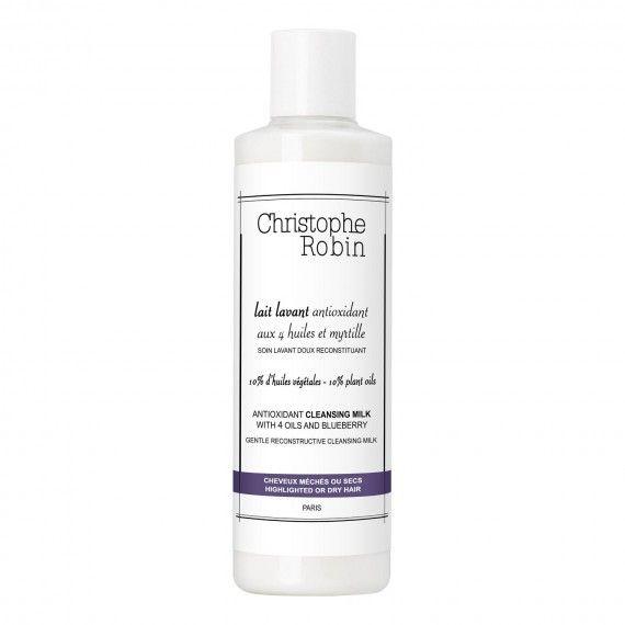 Christophe Robin Leite de Limpeza Antioxidante para Cabelo com 4 Óleos e Mirtilo