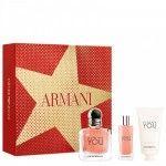 Giorgio Armani Emporio In love With You Coffret Eau de Parfum 100ml + Creme de Mãos 50ml + Mini Eau
