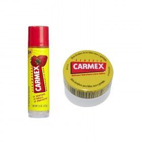 Carmex Coffret Bálsamo Labial Clássico em Boião + Bálsamo Labial de Morango em Stick