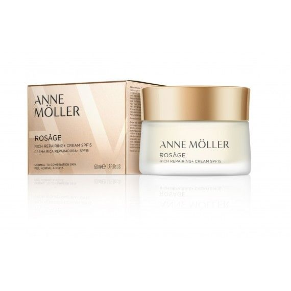 Anne Möller Rosâge Rich Repairing Cream SPF15 - Creme Reparador Facial de Dia para Peles Normais a M
