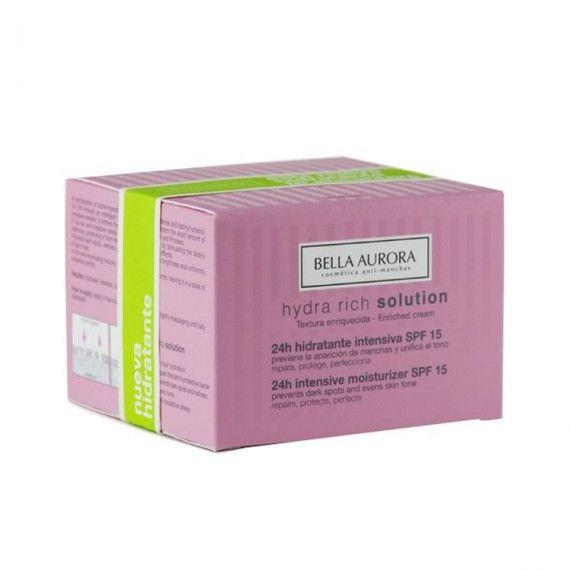 Bella Aurora Hydra Rich Solution SPF15 - Creme Facial Hidratante Intensivo 24h