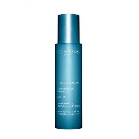 Clarins Hydra-Essentiel Fluide Fondant Désaltérant SPF15 - Loção Hidratante Facial para Peles Normai