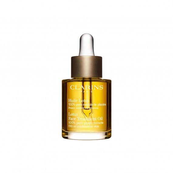 Clarins Huile Lotus - Óleo de Tratamento Facial de Lótus para Peles Oleosas ou Mistas