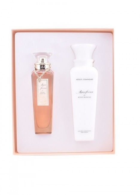 Adolfo Dominguez Agua de Rosas Blancas Eau de Toilette 120ml + Body Lotion 300ml