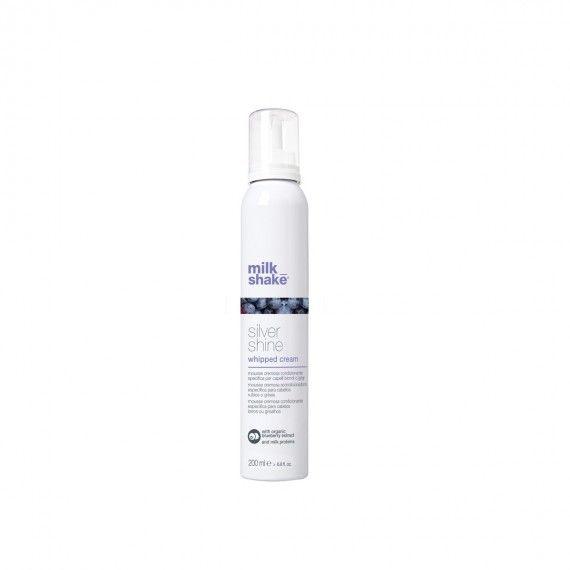 Milk_Shake Silver Shine Whipped Cream - Espuma Condicionadora Cremosa para Cabelos Loiros ou Grisalh