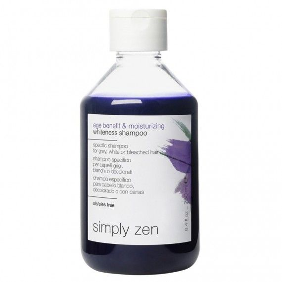Simply Zen Age Benefit & Moisturizing Whiteness Shampoo - Shampoo Específico para Cabelos Brancos ou