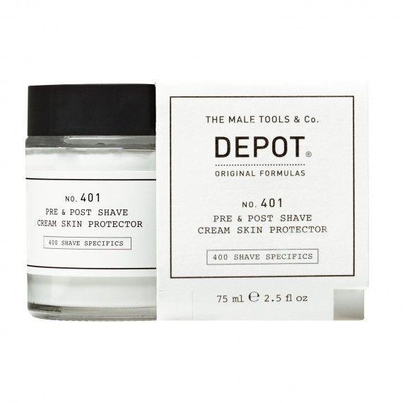 Depot Nº401 Pre & Post Shave Cream Skin Protector - Creme Protetor Pré e Pós-Barbear