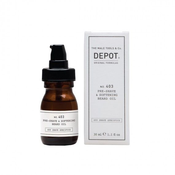 Depot Nº403 Pre Shave & Softening Beard Oil Sweet Almond - Óleo Suavizante Pré-Barbear e Condicionad