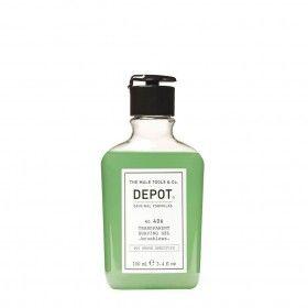 Depot Nº406 Transparent Shaving Gel Brushless - Gel de Barbear sem Espuma (Indicado para Uso Sem Pin