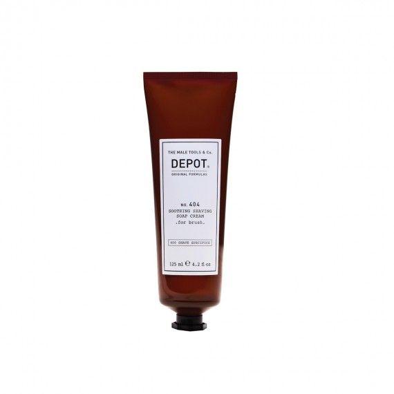 Depot Nº404 Soothing Shaving Soap Cream for Brush - Sabão Calmante em Creme para Barbear (Indicado p
