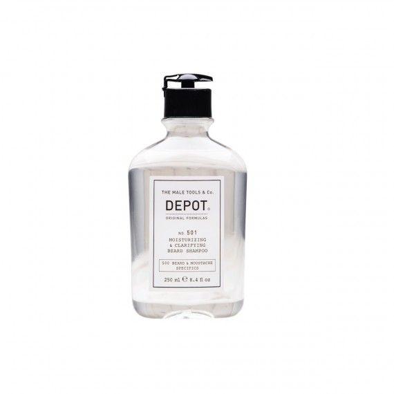 Depot Nº501 Moisturizing & Clarifying Beard Shampoo - Shampoo Hidratante e Purificante para a Barba