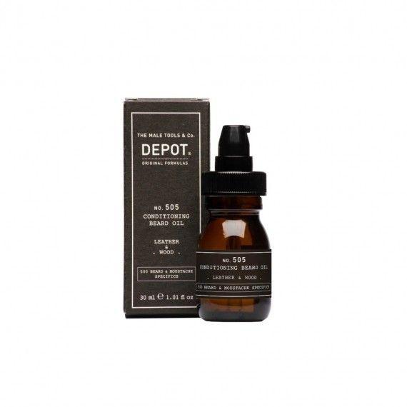Depot Nº505 Conditioning Beard Oil Leather & Wood - Óleo Condicionador da Barba