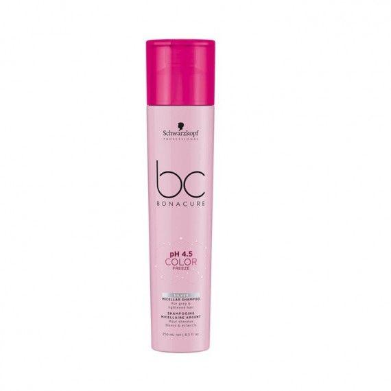 Schwarzkopf Professional Bonacure PH4.5 Color Freeze Silver - Shampoo Micelar para Cabelos Brancos o