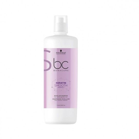 Schwarzkopf Professional Bonacure Keratin Smooth Perfect Micellar Shampoo - Shampoo Micelar para Cab