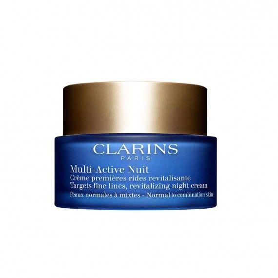 Clarins Multi-Active Nuit Confort - Creme Facial de Noite Revitalizante para Peles Normais a Secas