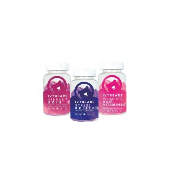 Pack Ivy Bears Women's Hair Vitamins + Vibrant Skin + Stress Relief