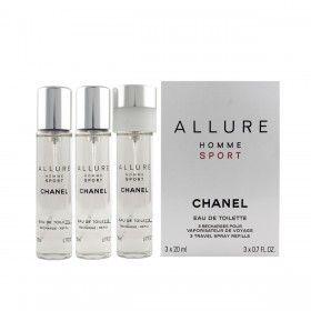 Chanel Coffret Allure Homme Sport Eau de Toilette 3x20ml Recargas