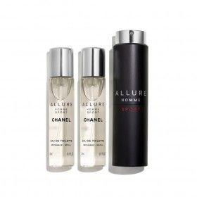 Chanel Coffret Allure Homme Sport Eau de Toilette Recarregável 20ml + Eau de Toilette 2x20ml Recarga