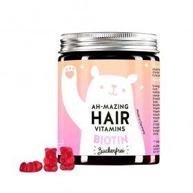 Bears Benefits Ah-Mazing Hair Vitamins - Suplemento Alimentar de Cabelo com Biotina (Sem Açúcar)