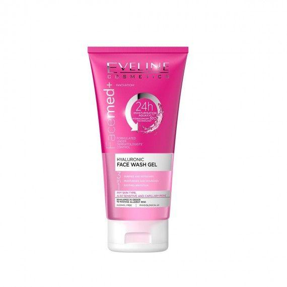 Eveline Cosmetics Facemed+ Gel de Limpeza Facial 3 em 1 com Ácido Hialurónico