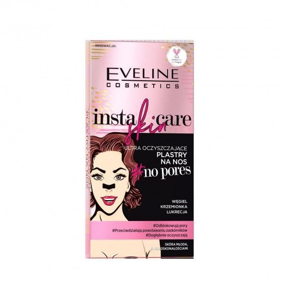 Eveline Cosmetics Insta Skin Care No Pores Bandas Adesivas para Nariz (x4 unidades)