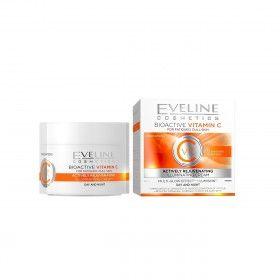 Eveline Cosmetics Creme Iluminador Anti-Envelhecimento com Vitamina C para Peles sem Brilho