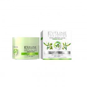 Eveline Cosmetics Creme Hidratante Anti-Rugas com Ácido Hialurónico para Peles Secas