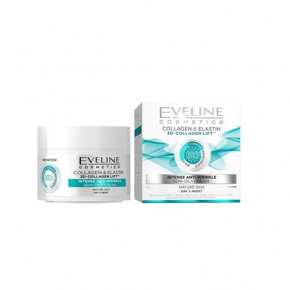 Eveline Cosmetics Creme Intenso Anti-Rugas com Colagénio para Peles Maduras