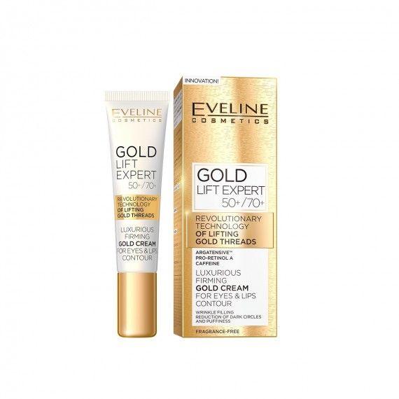 Eveline Cosmetics Gold Lift Expert Creme de Firmeza para Contorno de Olhos e Lábios