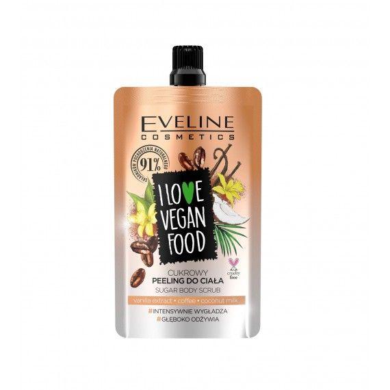 Eveline Cosmetics I Love Vegan Food Esfoliante Corporal de Açúcar com Extrato de Baunilha
