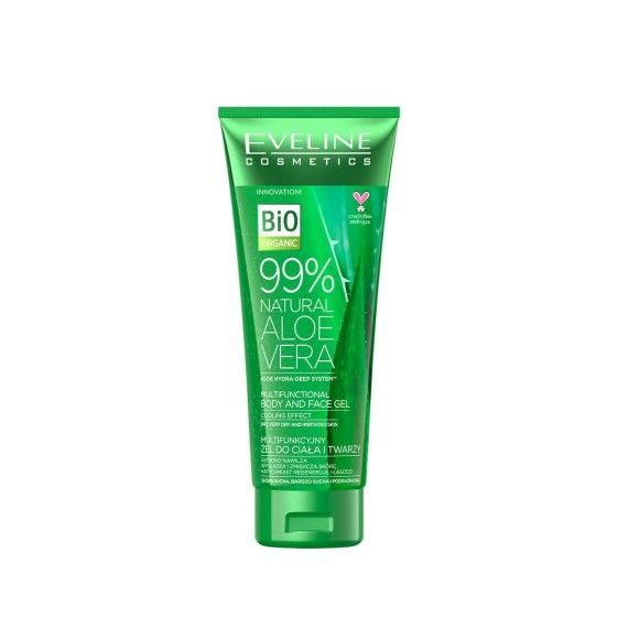 Eveline Cosmetics 99% Natural Aloe Vera Gel Multifuncional para Corpo e Rosto