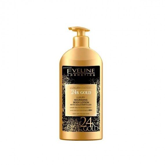 Eveline Cosmetics Luxury Expert 24K Gold Loção Corporal Nutritiva com Partículas de Ouro