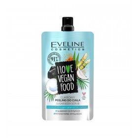 Eveline Cosmetics I Love Vegan Food Esfoliante Corporal de Açúcar com Óleo de Coco