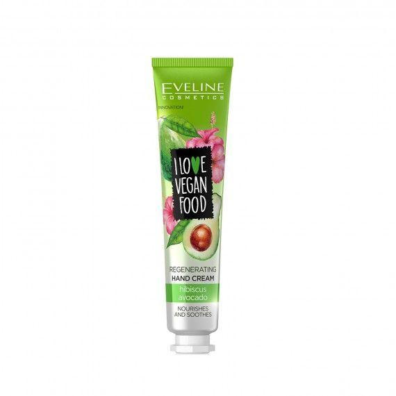 Eveline Cosmetics I Love Vegan Food Creme de Mãos Regenerador de Abacate e Hibisco