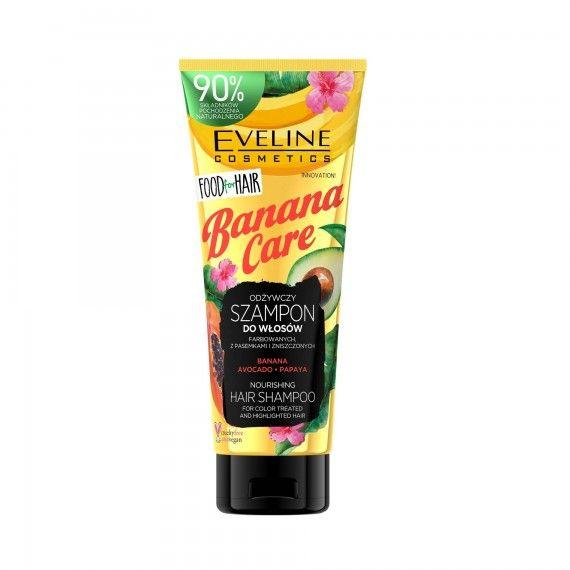 Eveline Cosmetics Food for Hair Banana Care Shampoo Nutritivo para Cabelos Pintados